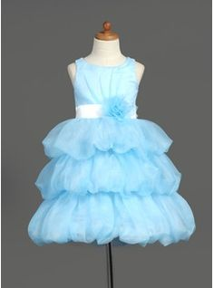 A-Line/Princess Scoop Neck Knee-Length Organza Satin Flower Girl Dress With Ruffle Sash Flower(s) from JJ's House, Bridal & bridal accessories.  www.jjshouse.com We ship to Australia, Canada, U.K. New Zealand, Switzerland, Norway, Russia, Brazil, Netherlands & the USA.   Please mention that you found them thru Jevel Wedding Planning's Pinterest Account.  Keywords: #flowergirldresses #jevelweddingplanning Follow Us: www.jevelweddingplanning.com  www.facebook.com/jevelweddingplanning/