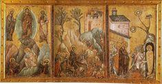 Guido da Siena -Trasfigurazione, Entrata di Cristo a Gerusalemme e Resurrezione di Lazzaro - 1270-1275 - Pinacoteca Nazionale di Siena
