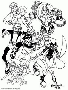 Malvorlagen Teen Titans 26