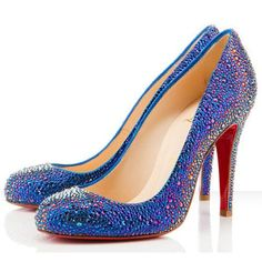 Christian Louboutin Fifi Strass 100mm Special Occasion Blue. OMG THIS IS BEAUTIFUL, I LOOOOVE IT.