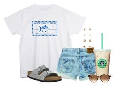 """Hoping my dad can come home today, been there since Wednesday"" by flroasburn ❤ liked on Polyvore featuring Southern Tide, Birkenstock, Kate Spade and Forever 21"