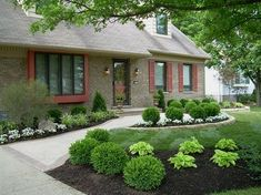 Stunning 40+ Awesome Low Maintenance Front Yard Landscaping Ideas https://gardenmagz.com/40-awesome-low-maintenance-front-yard-landscaping-ideas/  #LandscapingIdeas