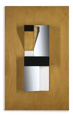 """Mary Martin, 1907 - 1969, Climbing Form 1954-62, wood, perspex and stainless steel, 21 x 13""""."""