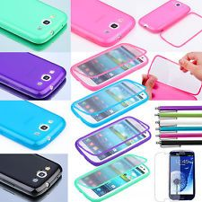 Stylus+For Samsung Galaxy S III S3 TPU Wrap Up Case w/ Built in Screen Protector