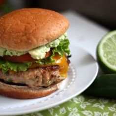 Jalapeno Turkey Burgers with Cheddar & Guacamole plus some tips for achieving a moist turkey burger with a nice crisp sear.