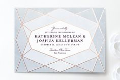 Abstract Jewel Wedding Invitations from Minted. $136 for 45 (basics)