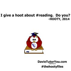 Hooty cares about reading.
