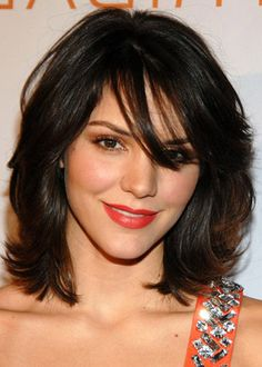 hairstyle idea: 10 Simple Bang Hairstyles For Medium Length Hair @  www.stylecraze.com/articles/10-simple-bang-hairstyles-for-medium-length-hair/