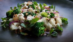 Cauliflower, broccoli and lemon salad - healthy, simple and so nutritious. Find the recipe at www.wellnourished.com.au