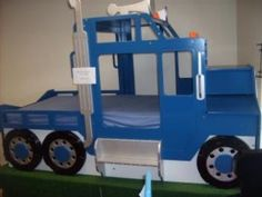 Semi truck bed for kids 50 New ideas Kids Truck Bed, Truck Toddler Bed, Kid Beds, Bunk Beds, Truck Bedroom, Car Bed, Cool Beds, Awesome Beds, Boy Room