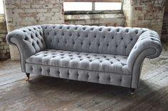 Chesterfield sofa a part of furniture Sofa Couch, Comfy Sofa, Couch Set, Big Couch, Sofa Chester, Canapé D'angle Chesterfield, Sofa Design, Interior Design, Velvet Sofa Set