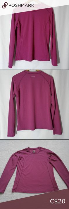 """Columbia Long Sleeve Top Columbia Titanium exercise/lounge top - 100% soft polyester with matching coloured thread details - measures (flat) arm length 19-1/2"""", shoulder to shoulder 16-1/2"""", length 23-1/2"""", chest size 19"""", hip 20"""" - machine wash cold - in very good condition Columbia Tops Tees - Long Sleeve Banana Republic Trousers, Long Sleeve Tops, Long Sleeve Shirts, Curvy Fit, Columbia, Plus Fashion, Fashion Trends, Button Up Shirts, Arm"""