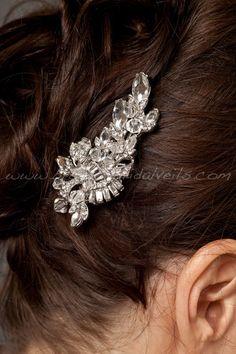 Rhinestone+Bridal+Hair+Clip+Wedding+by+brendasbridalveils+on+Etsy,+$49.95