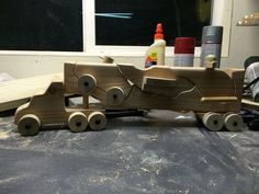 Wooden Military Toy Hauler (Helicopter, Jet and Truck with gun turret) *** Template PDF Added ***