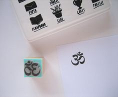 OM or AUM. S Size Small. Rubber stamp by SamadhiArtShop on Etsy
