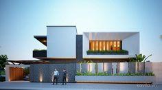 Nguyễn Thái Lai Facade Design, Exterior Design, Morden House, Compound Wall Design, Modern Villa Design, Bedroom False Ceiling Design, Live In Style, House Front Design, Master Room