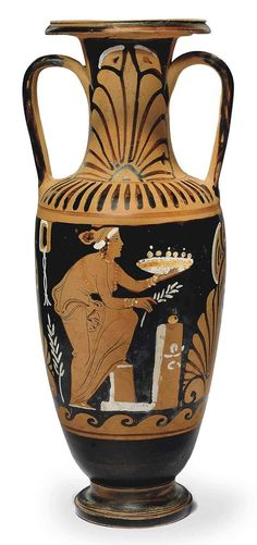 A CAMPANIAN RED-FIGURED AMPHORA ATTRIBUTED TO THE C.A. PAINTER, CIRCA 430-330 B.C.