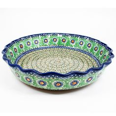 """2 1/2"""" x 11 1/4"""" - Quality 1 Guaranteed from the renowned Ceramika Artystyczna Boleslawiec - Polish Pottery is Oven, Microwave, and Dishwasher Safe! - Hand Painted and Stamped by Highly Skilled Artisa"""