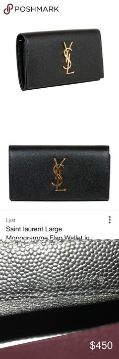 YSL YSL wallet/clutch with box and dust bag included, used but good condition, wear on the gold parts as they do fade a bit over time but still a great wallet. I'll be uploading videos and photographs on Instagram so that you can view it up close and personal. I like to be as honest as possible about my listings and let you see all the little flaws. Currently in the process of uploading more, you can view on my Instagram at @ocstylesstef AUTHENTIC ❤️ Cheaper on 🅿️🅿️ Saint Laurent Bags…