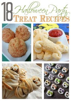 Cool ideas for Halloween party treats. Even includes a few healthy treat ideas! Perfect for a classroom party. www.FabulesslyFrugal.com
