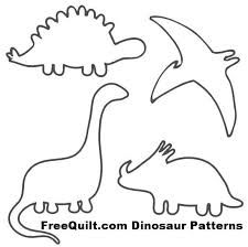 Image result for quilting a simple dinosaur