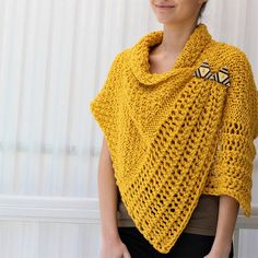 Knitting pattern Patron de tricot CORALI knitted wrap PDF patterns for beginners free Knitting pattern, Patron de tricot- CORALI knitted wrap PDF - Knitted Poncho PDF- Knitted Scarf-Knit pattern- Knit shawl- bulky- medium yarn Poncho Au Crochet, Knitted Poncho, Knitted Shawls, Knit Crochet, Scarf Knit, Poncho Scarf, Love Knitting, Easy Knitting Patterns, Pdf Patterns