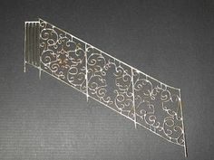 Miniature Soldered Wrought Iron Railing for Dollhouse - Shown from concept to completion.