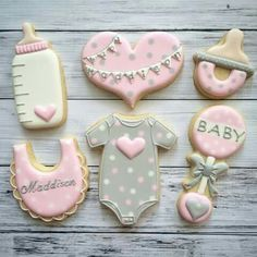 Wie man eine Mädchen-Babyparty plant – Baby shower desserts – How To Plan A Girl Baby Shower – Baby shower desserts – # Girls Baby Shower Gateau Baby Shower, Baby Shower Desserts, Baby Shower Cupcakes, Shower Cakes, Baby Shower Parties, Baby Showers, Fancy Cookies, Cute Cookies, Royal Icing Cookies