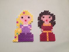 Disney Tangled Rapunzel and Mother Gothel Perler Beads by SongbirdBeauty