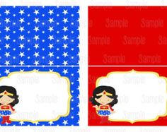 Wonder Woman invitation Invitacin Mujer Maravilla Dy printables
