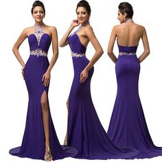 Mermaid Long Prom Dress Wedding Bridesmaid Formal Evening Ball Gown Party Dress