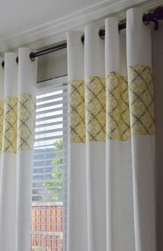 gray and yellow bedroom ideas   rated: Ikea Curtains: Upcycled