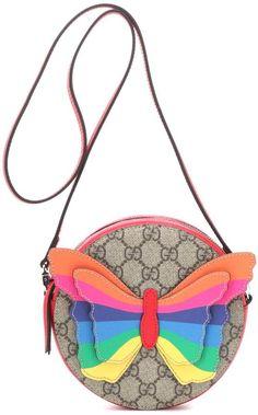 Canvas Shoulder Bag, Leather Shoulder Bag, Festival Chic, Rainbow Butterfly, Gucci Kids, Heart Sunglasses, Stella Mccartney Kids, Little Fashionista, Girls Bags