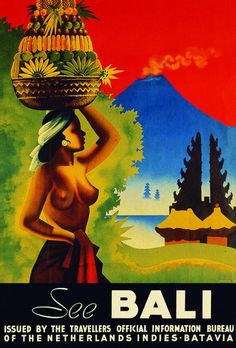 Travel poster Bali Indonesia