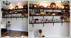 Cute shelves made out of barn wood