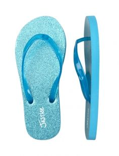 Glitter Flip Flops blue cute