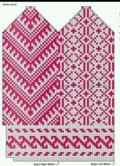 F Baby Hats Knitting, Fair Isle Knitting, Knitting Charts, Knitting Stitches, Knitting Socks, Hand Knitting, Knitted Hats, Knitting Patterns, Mittens Pattern