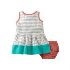 Coastal Stripe Little Girls Sleeveless Dress | Tea Collection