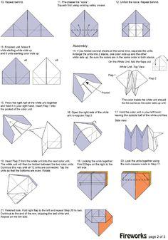 origami fireworks diagram tutorial origami handmade rh origami mugallim com origami fireworks yami yamauchi diagram Origami Magic Ball Print Out