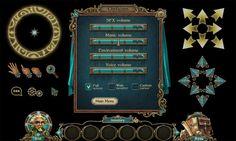 Game UI by Cristina Cazanji, via Behance
