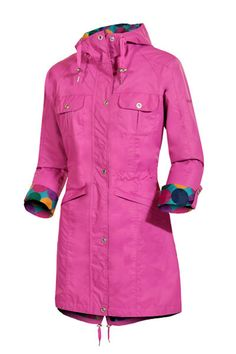 Target Dry Ladies Victoria Parka Coat - Dahlia This lightweight Victoria Parka features a stylish fishtail hem and an adjustable drawstring waist