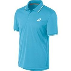 Mens ASICS Club Short Sleeve Polo Blue Moon M *** Be sure to check out this awesome product.(This is an Amazon affiliate link and I receive a commission for the sales)