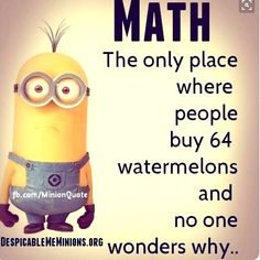 Get ready, This collection of some Minions Memes math that are so funny and i Funny Minion Memes, Minions Quotes, Funny Jokes, Pictures With Meaning, Funny Images, Funny Pictures, Happy Birthday Minions, Funny Birthday, Minions Images