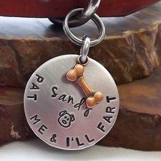 Dog Tags For Dogs, Dog ID Tag, Dog Tag, Hand Stamped Dog Tags, Medium to Large Aluminium Dog ID Tag, Pet Tags, Pet ID Tags, Dog id by in2k9 on Etsy https://www.etsy.com/listing/288465581/dog-tags-for-dogs-dog-id-tag-dog-tag