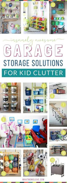 How to organize your garage to eliminate toy clutter | DIY ideas, products, inspiration and tips to create more storage for your kids stuff! Plus hacks and tricks to organize your entire life for a fun summer with your family. #cluttergarage