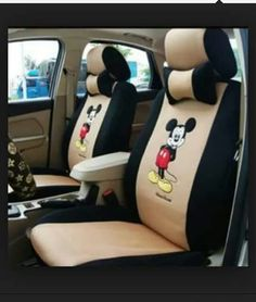 New Anime Mouse Car Seat Covers Cushion Accessories Set