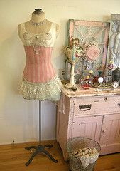 love this dress form love the pink dresser too