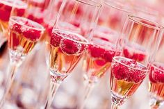 Champagne with a touch of Raspberry
