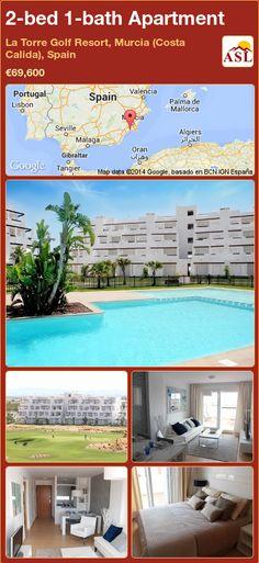 2-bed 1-bath Apartment in La Torre Golf Resort, Murcia (Costa Calida), Spain ►€69,600 #PropertyForSaleInSpain