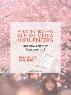 Influencer Marketing 101: What is a 'Social Media Influencer' and How Can You Work With Them? | With the rise of social media comes the avalanche of social media influencers. Replacing traditional celebrities and reinventing the meaning of edorsement and affiliate marketing, influencers are taking the internet my storm. Read my influencer marketing 101 guide to find out how to use influencers strategically for your small business. Don't forget to save this pin for later and grab your free…